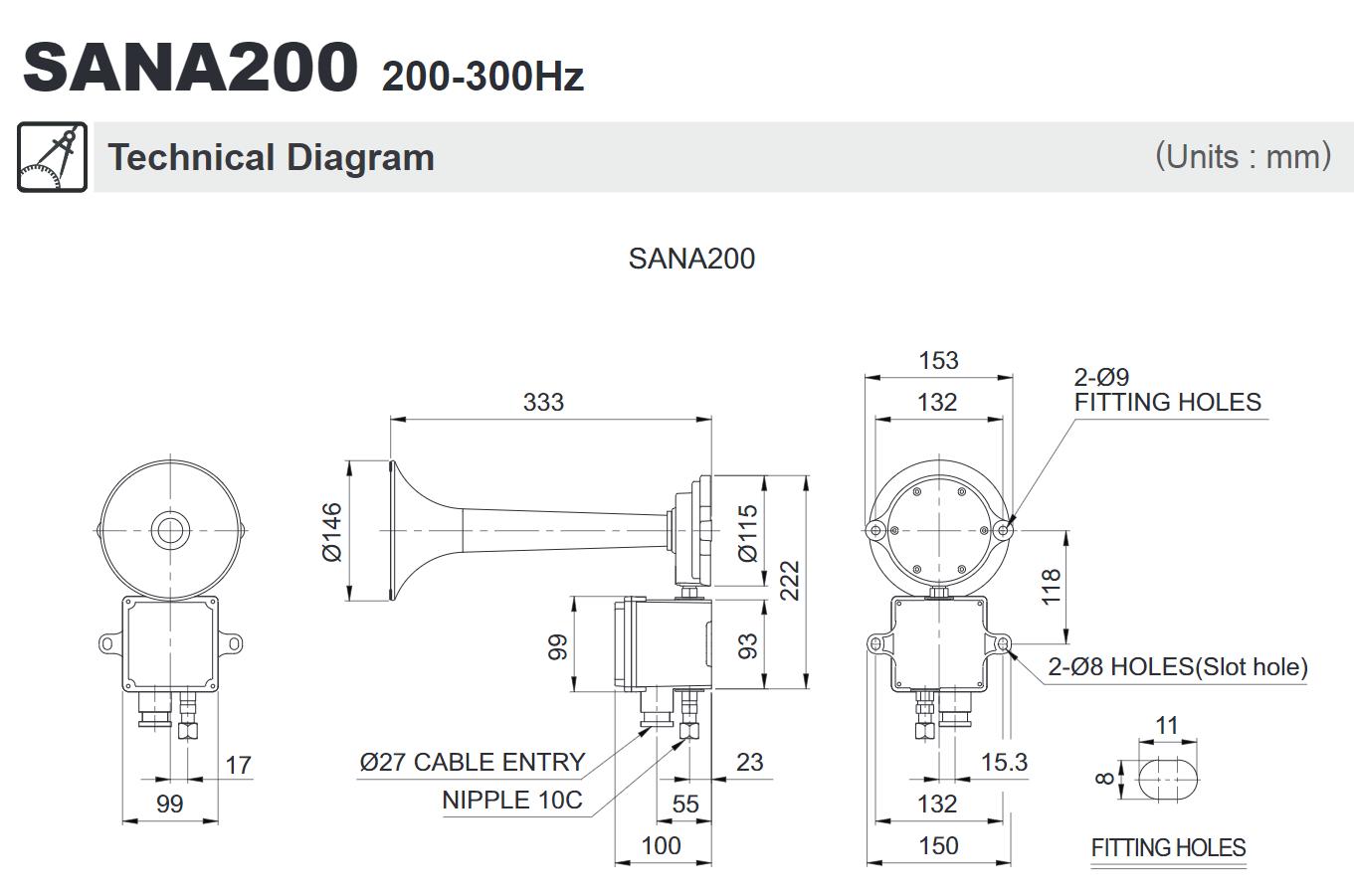 [DIAGRAM_4PO]  SANA200 Air Horn 130dB – Dream Marine   Industrial Air Horn Schematic      Dream Marine