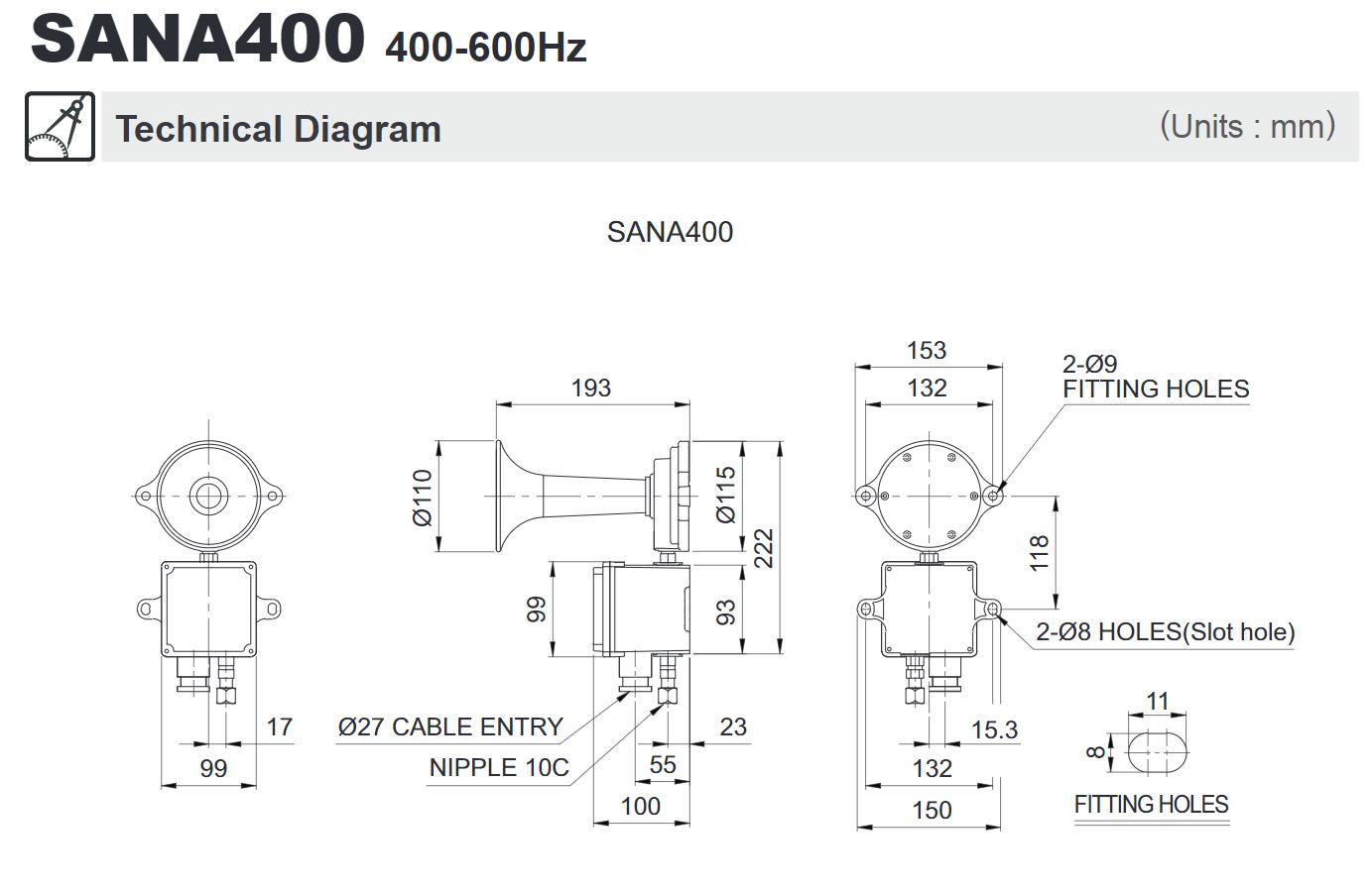 [ZHKZ_3066]  SANA400 Air Horn – Dream Marine   Industrial Air Horn Schematic      Dream Marine
